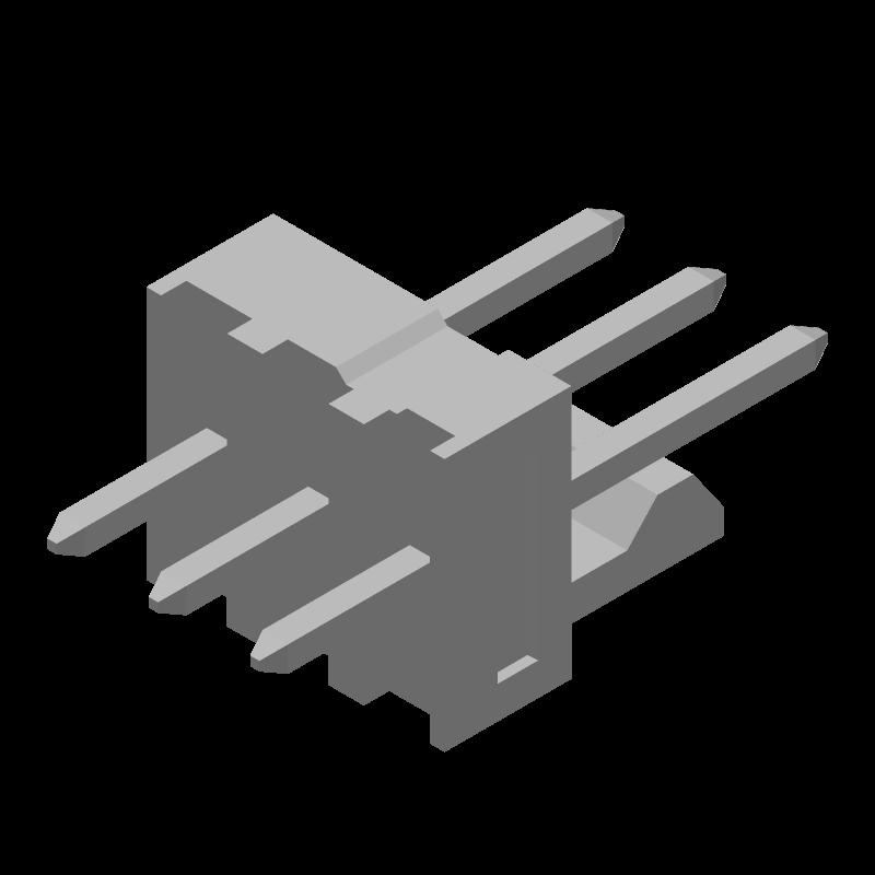 22-23-2031 - Molex - 3D model - Header, Shrouded - 22-23-2031