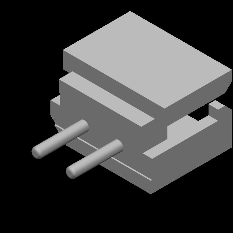 22-03-5025 - Molex - 3D model - Header, Shrouded - 22-03-5025