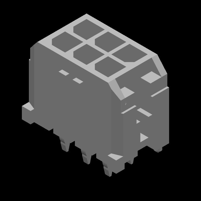 43045-0612 - Molex - 3D model - Header, Shrouded - 43045-0612