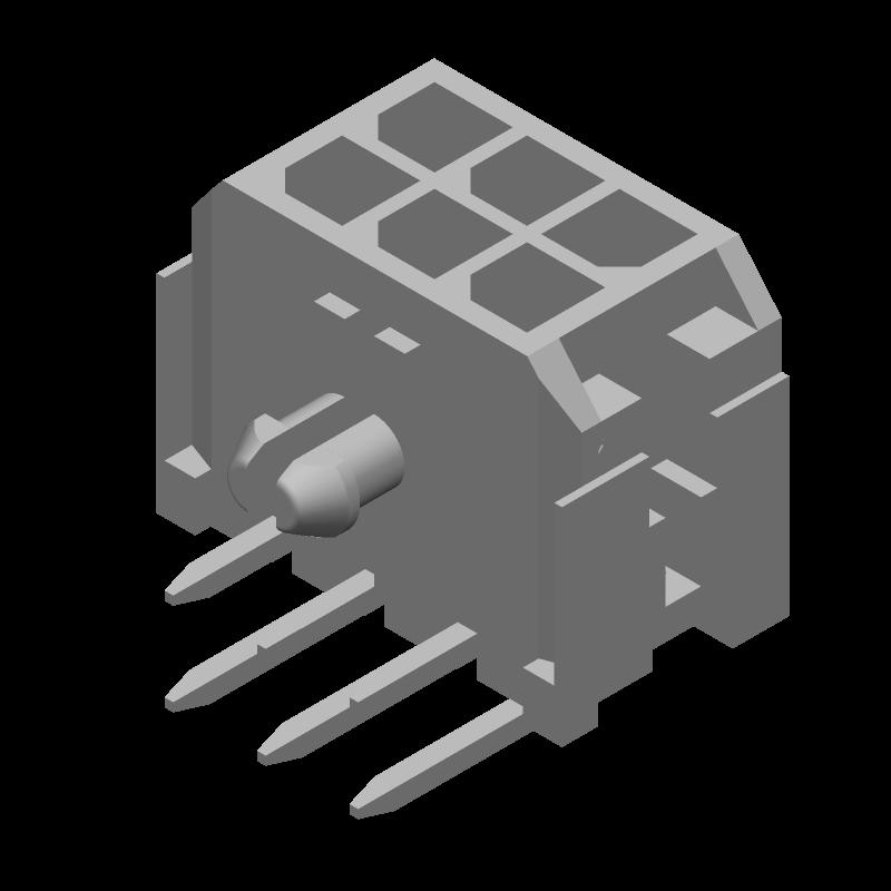 43045-0600 - Molex - 3D model - Other - 43045-0600