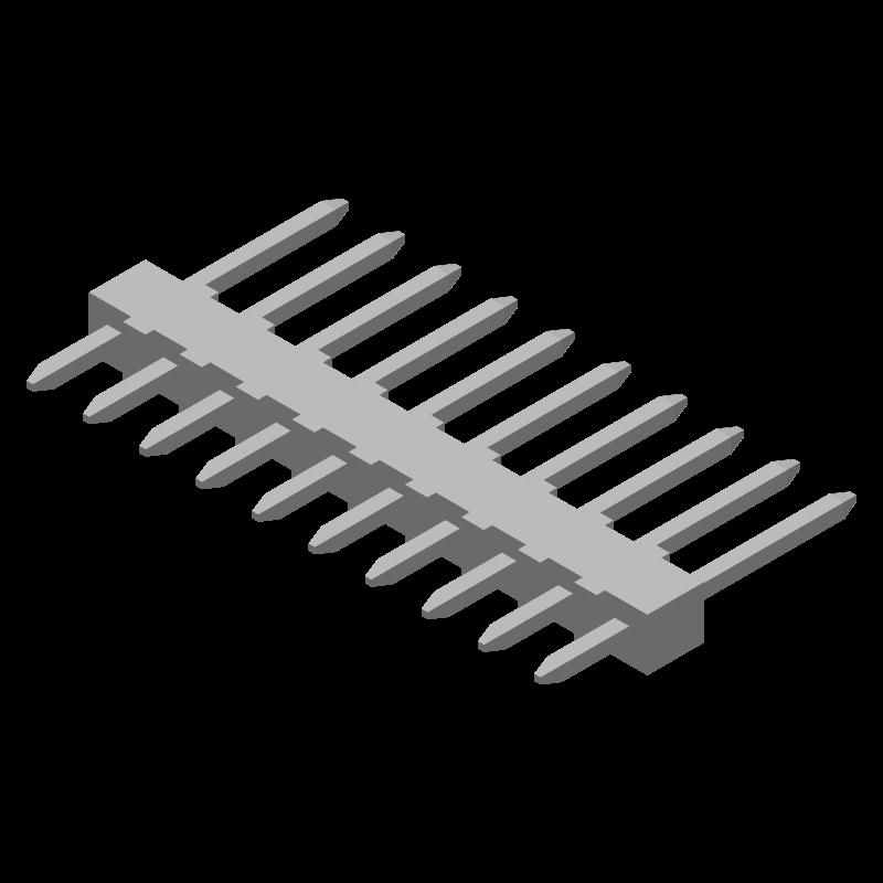 22-03-2101 - Molex - 3D model - Header, Vertical - 22-03-2101
