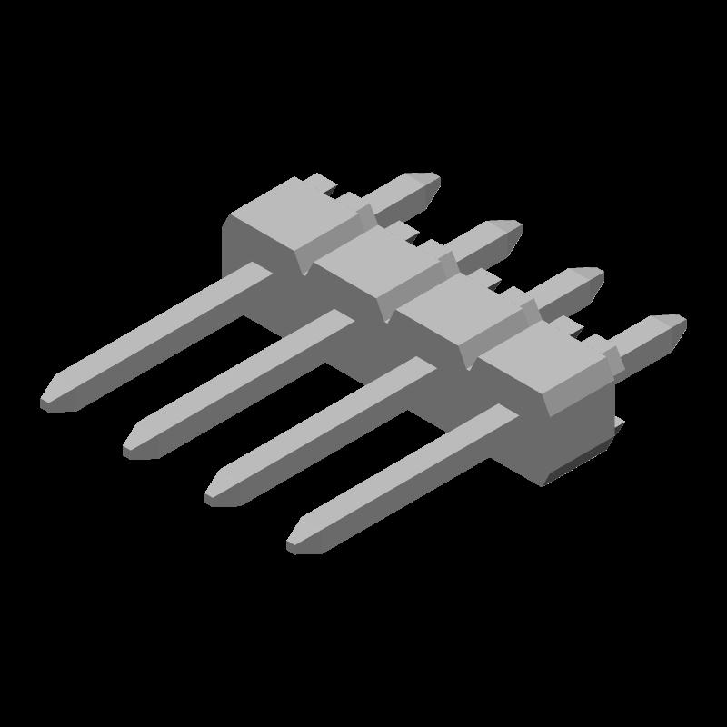 90120-0764 - Molex - 3D model - Header, Vertical - 90120-0764