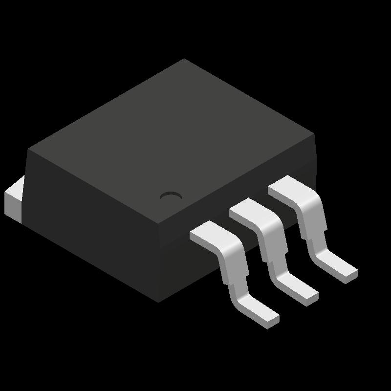 LM1117SX-3.3/NOPB - Texas Instruments - 3D model - Other - KTT0003B