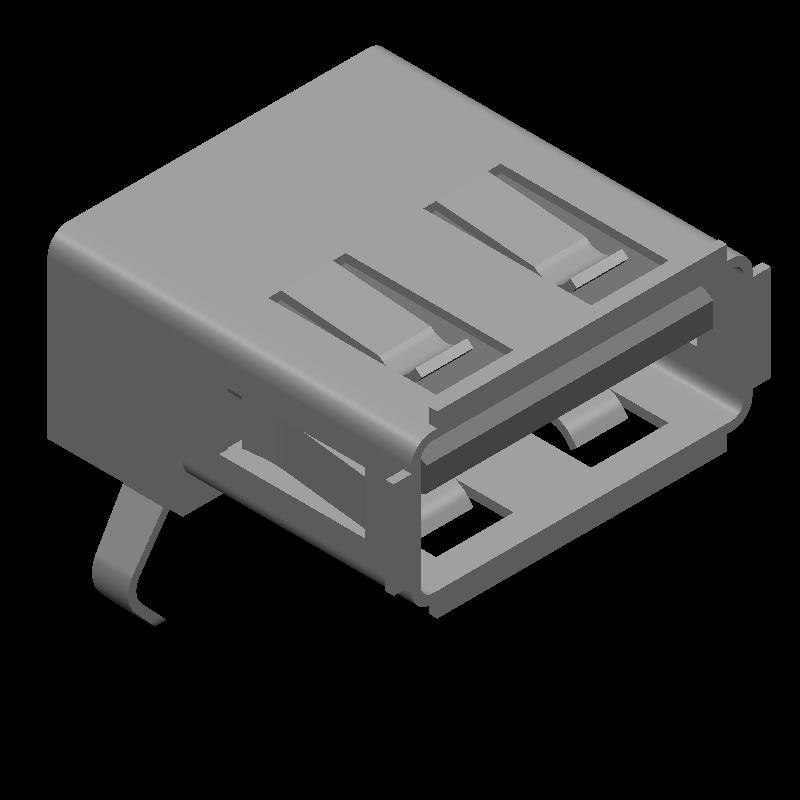 USB-A-S-F-B-TH-R - SAMTEC - 3D model - Other - USBR-A-S-F-O-TH
