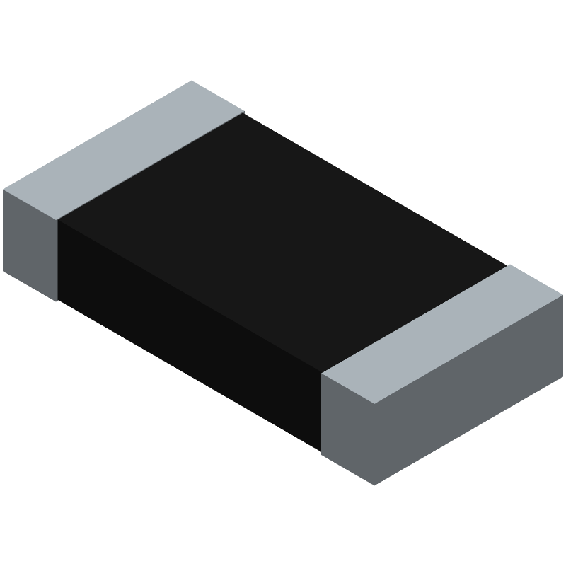 Vishay CRCW120610K0FKEAC (Resistor Chip) 3D model isometric projection.