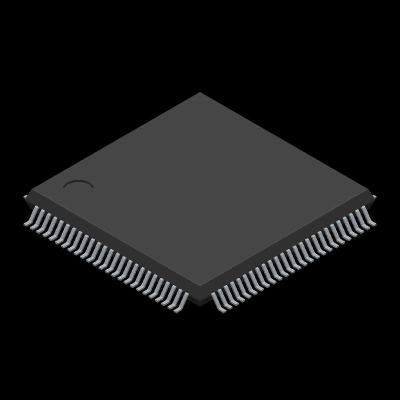 LPC1768FBD100,551 - Nexperia - 3D model - Quad Flat Packages - SOT407-1