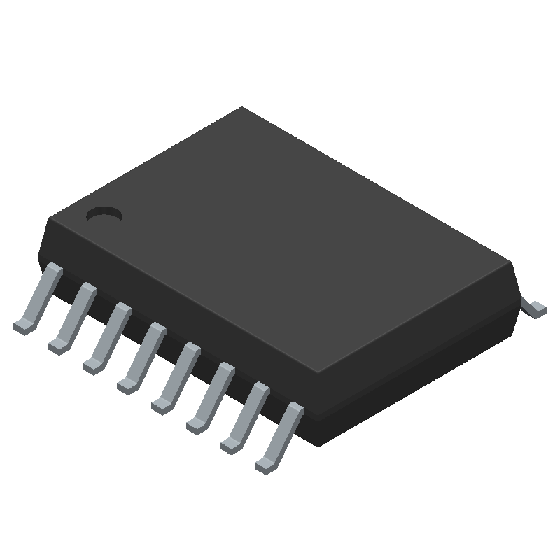 AD704ARZ-16 - Analog Devices - 3D model - Small Outline Packages - RW-16 (SOIC)