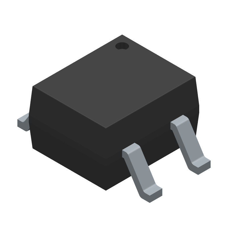 ON Semiconductor MB10S (Small Outline Packages) 3D model isometric projection.