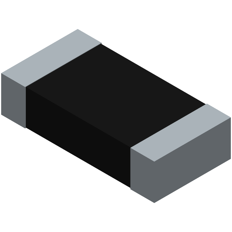 Bourns CR1206-FW-1504ELF (Resistor Chip) 3D model isometric projection.
