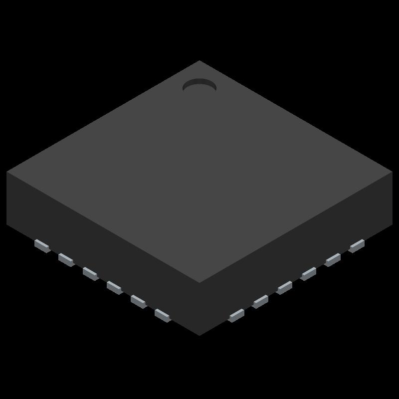 MLX80004 - Melexis - 3D model - Quad Flat No-Lead - 24 QFN LW