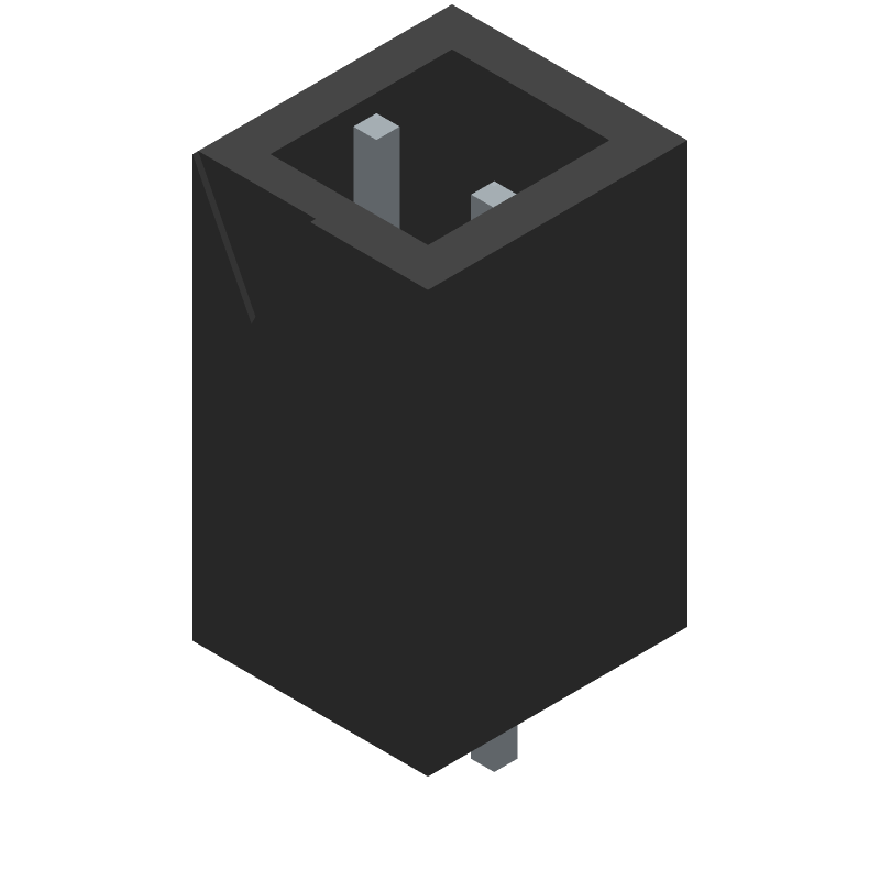 Phoenix Contact 5442918 (Header, Shrouded - Straight PTH Box) 3D model isometric projection.