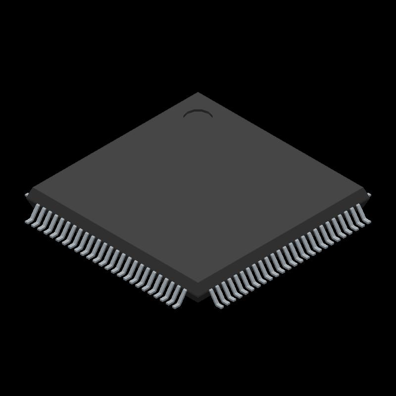 STM32L476VGT3 - STMicroelectronics - 3D model - Quad Flat Packages - STM32L476VGT3-1
