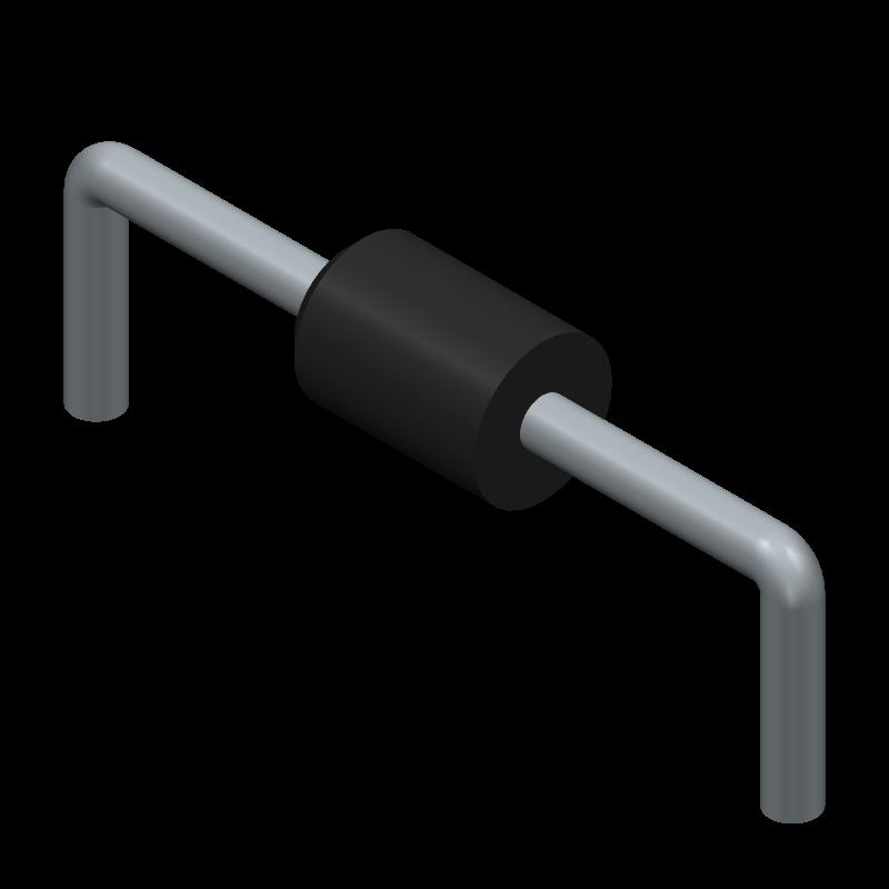 1N4729A-TAP - Vishay - 3D model - Diodes, Axial Diameter Horizontal Mounting - Vishay