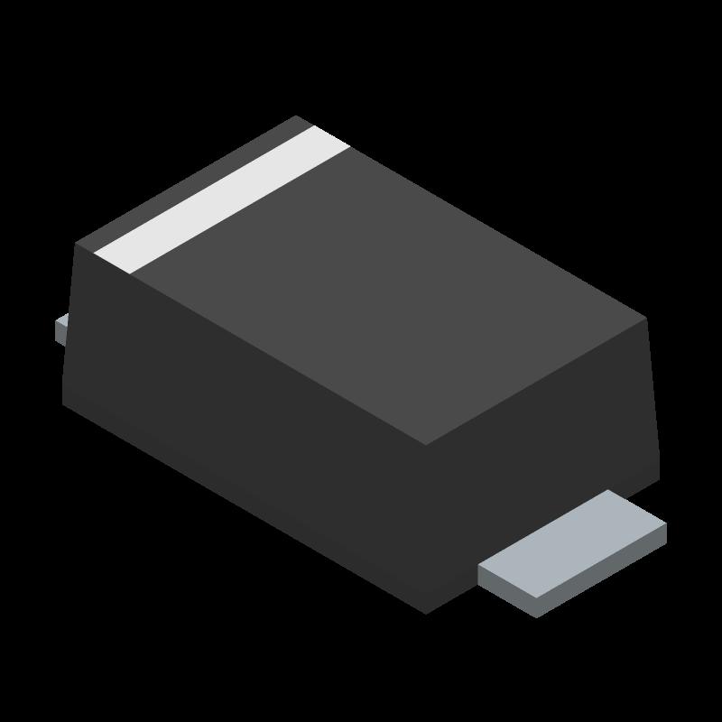 V2F22HM3/H - Vishay - 3D model - Small Outline Diode Flat Lead - DO-219AB