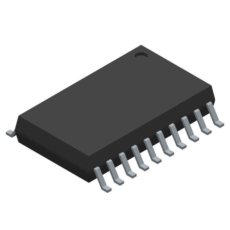 SIEMENS TP-UART (Small Outline Packages) 3D model isometric projection.