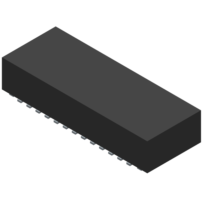 Molex 502598-2593 (Other) 3D model isometric projection.