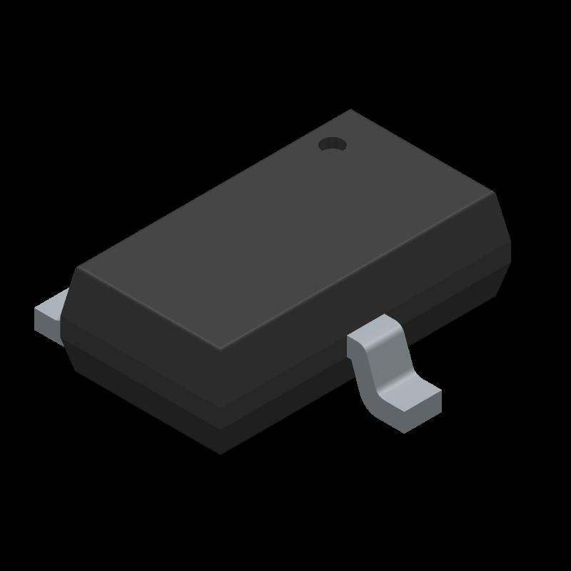US1881ESE - Melexis - 3D model - SOT23 (3-Pin) - SE (TSOT-3L)-ren1