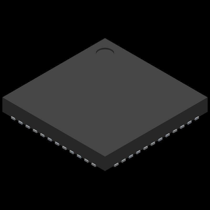 LD3320 - Electrodragon - 3D model - Quad Flat No-Lead - QFN-48