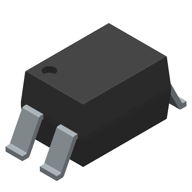 Sharp Microelectronics PC817X3NIP1B (Small Outline Packages) 3D model isometric projection.