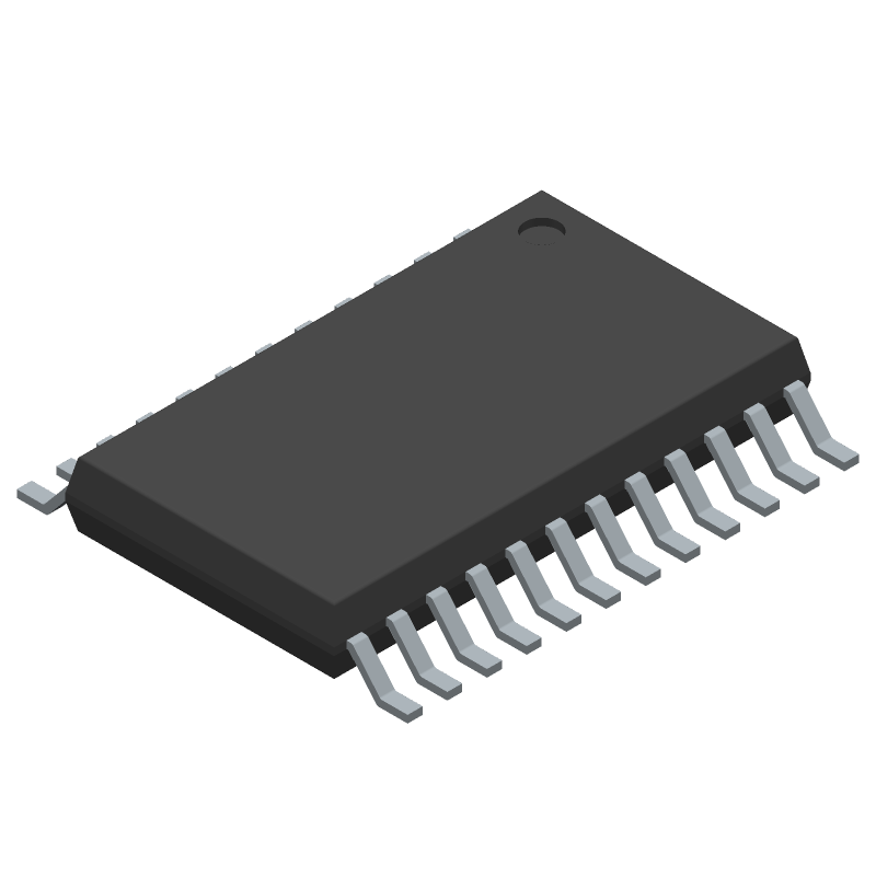 TPS92518HV-Q1 - Texas Instruments - 3D model - Small Outline Packages - PWP (R-PDSO-G24)_2