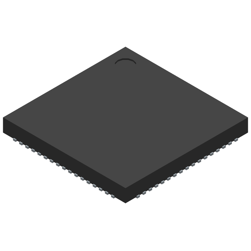 RK808 - Rockchip - 3D model - Quad Flat No-Lead - QFN68 7mm X 7mm