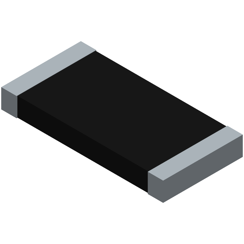Bourns CR2512-FX-1001ELF (Resistor Chip) 3D model isometric projection.