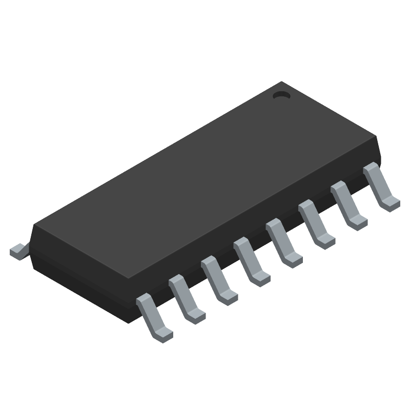 STMicroelectronics SG3525AP (Small Outline Packages) 3D model isometric projection.