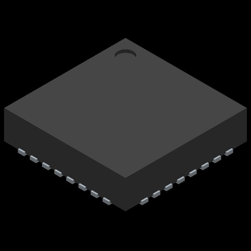 LP5024RSMR - Texas Instruments - 3D model - Quad Flat No-Lead - RSM (S-PVQFN-N32)