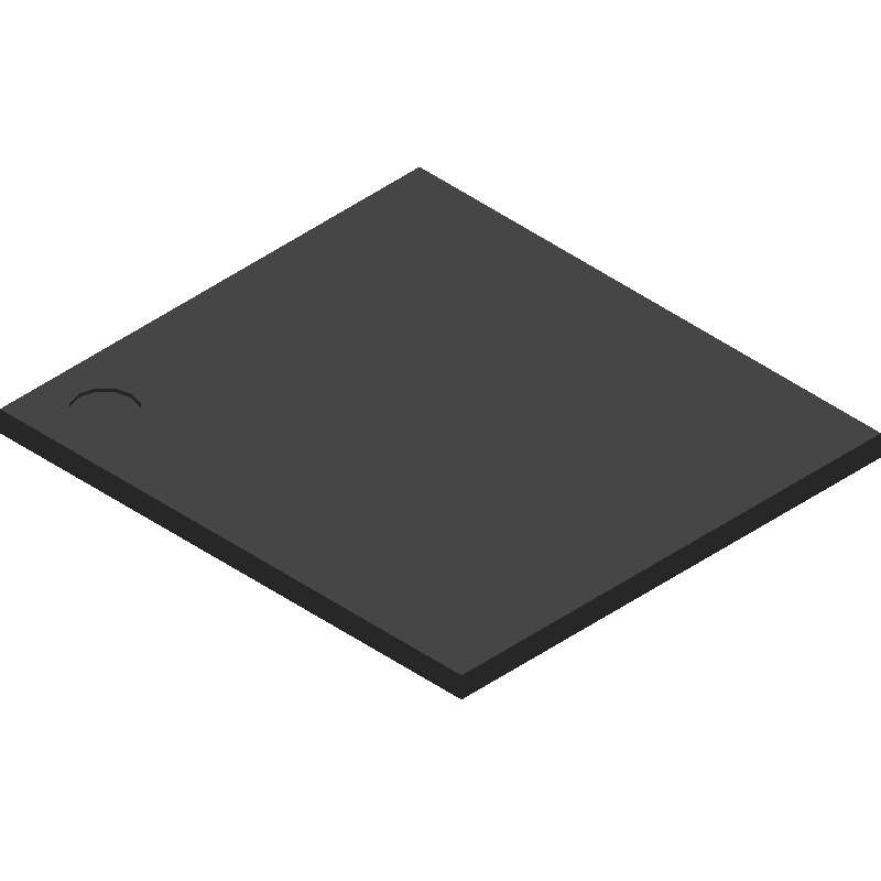 Toshiba THGBMNG5D1LBAIT (BGA) 3D model isometric projection.
