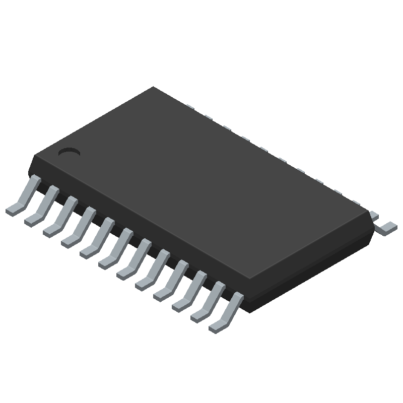 AD7795BRUZ - Analog Devices - 3D model - Small Outline Packages - RU-24 (TSSOP)