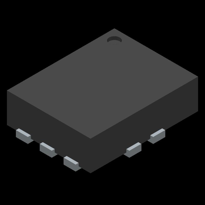 INA190A1IRSWT - Texas Instruments - 3D model - Quad Flat No-Lead - RSW(R-PUQFN-N10)-1