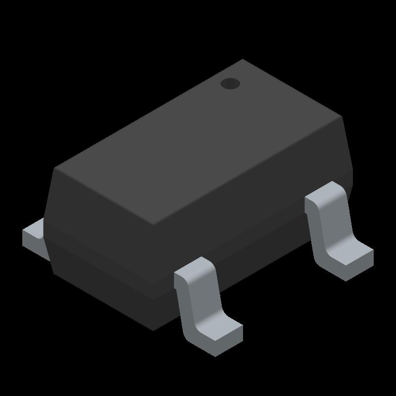 LMV7235M5/NOPB - Texas Instruments - 3D model - SOT23 (5-Pin) - DBV0005A
