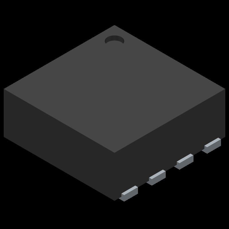 OPA855IDSGR - Texas Instruments - 3D model - Small Outline No-lead - WSON(DSG)