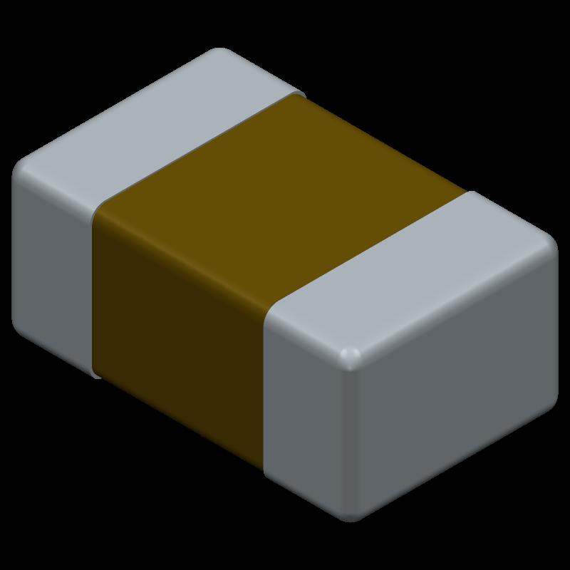 C0805C104K5RAC7411 - Kemet - 3D model - Capacitor Chip Non-polarised - C0805C104K5RAC7411-+-+