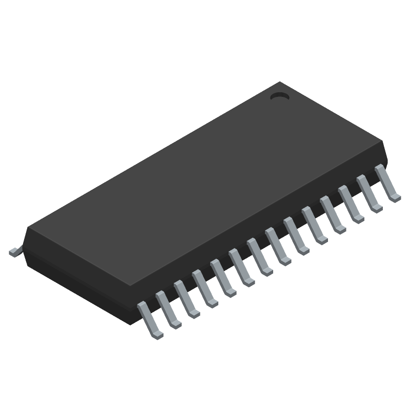AD7718BRZ - Analog Devices - 3D model - Small Outline Packages - R-28 (SOIC)