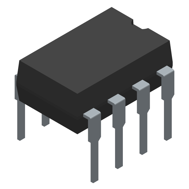 AD781JNZ - Analog Devices - 3D model - Dual-In-Line Packages - N-8 (BSC)