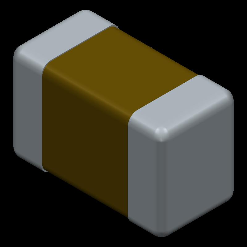 06035C104KAT2A - AVX - 3D model - Capacitor Chip Non-polarised - 603