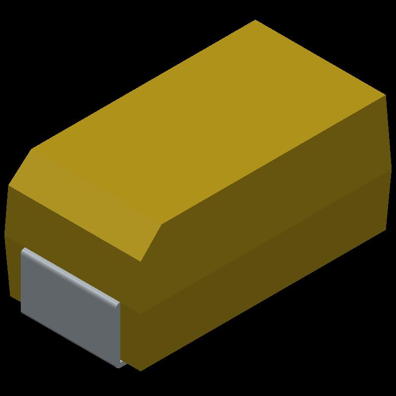 TAJC106K025RNJ - AVX - 3D model - Capacitor Moulded Polarised - CASE C