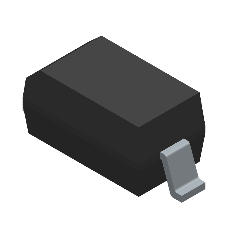Diodes Inc. 1N5819HW-7-F (Small Outline Diode) 3D model isometric projection.