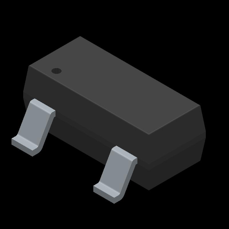 BSS138 - Fairchild Semiconductor - 3D model - SOT23 (3-Pin) - SOT-23 3L