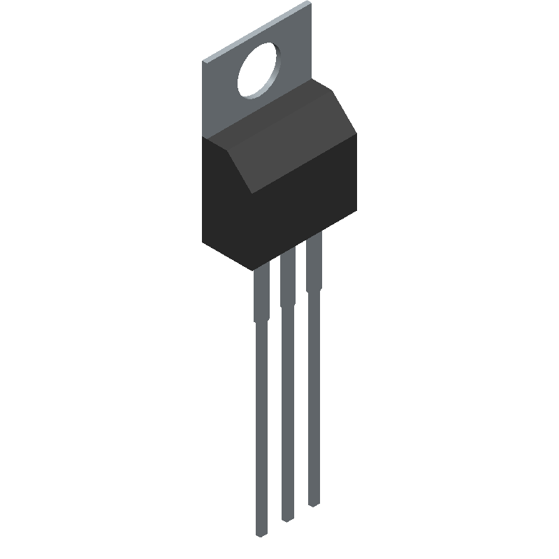 LM7909CT - Fairchild Semiconductor - 3D model - Transistor Outline, Vertical - TO220 ISSUE K AB