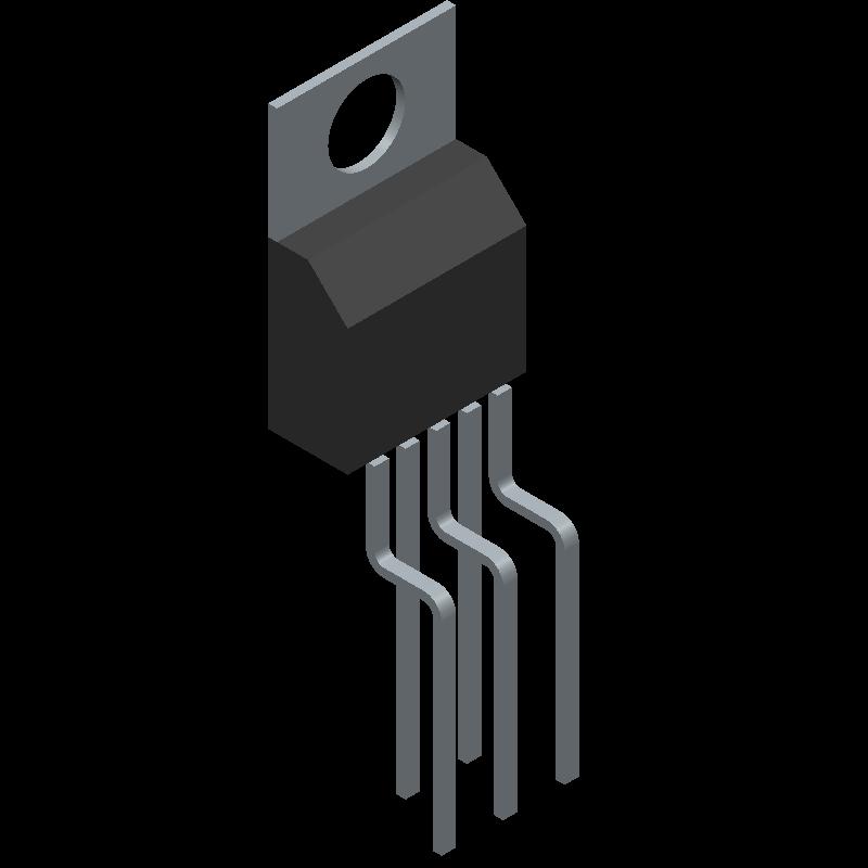 BTS432E2 - Infineon - 3D model - Transistor Outline, Vertical - Standard TO-220AB/5
