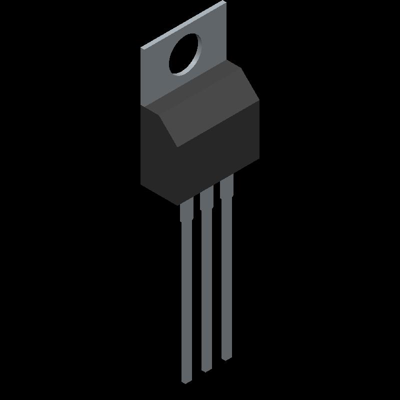 IRLZ44NPBF - International Rectifier - 3D model - Transistor Outline, Vertical - TO-220AB_2