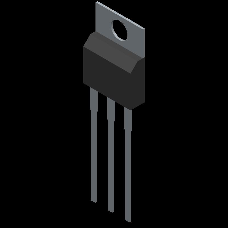 BTA41-600BRG - STMicroelectronics - 3D model - Transistor Outline, Vertical - TOP3