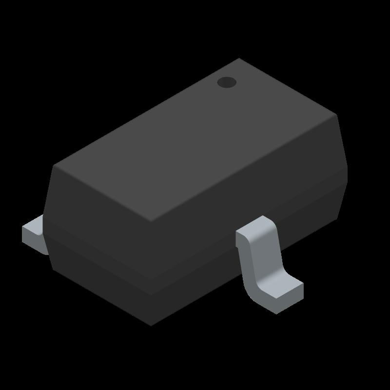 TPS3809K33QDBVRQ1 - Texas Instruments - 3D model - SOT23 (3-Pin) - DBV (R-PDSO-G3)