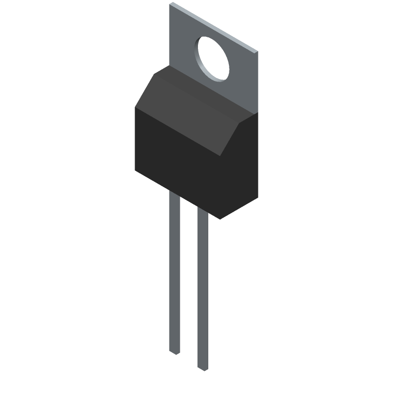 LT1171CT#PBF - Linear Technology - 3D model - Transistor Outline, Vertical - T Package 5-Lead Plastic TO-220 (Standard) (Reference LTC DWG # 05-08-1421)