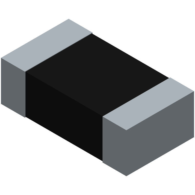 Vishay CRCW060310K0FKEA (Resistor Chip) 3D model isometric projection.