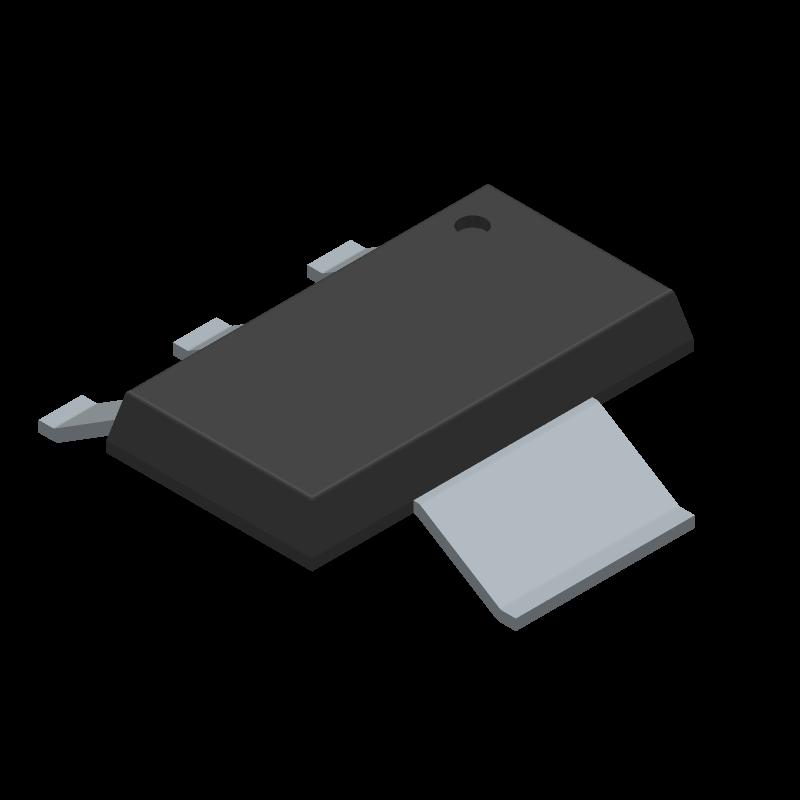 AMS1117-5.0 - PUOLOP - 3D model - SOT223 (3-Pin) - AMS1117-5.0