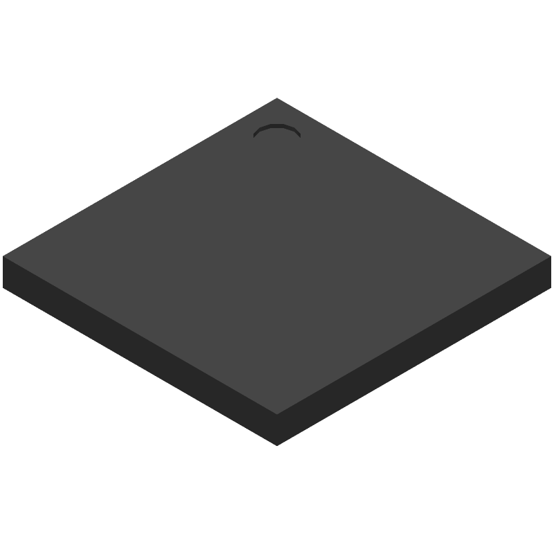 Analog Devices ADSP-BF533SBBZ500 (BGA) 3D model isometric projection.