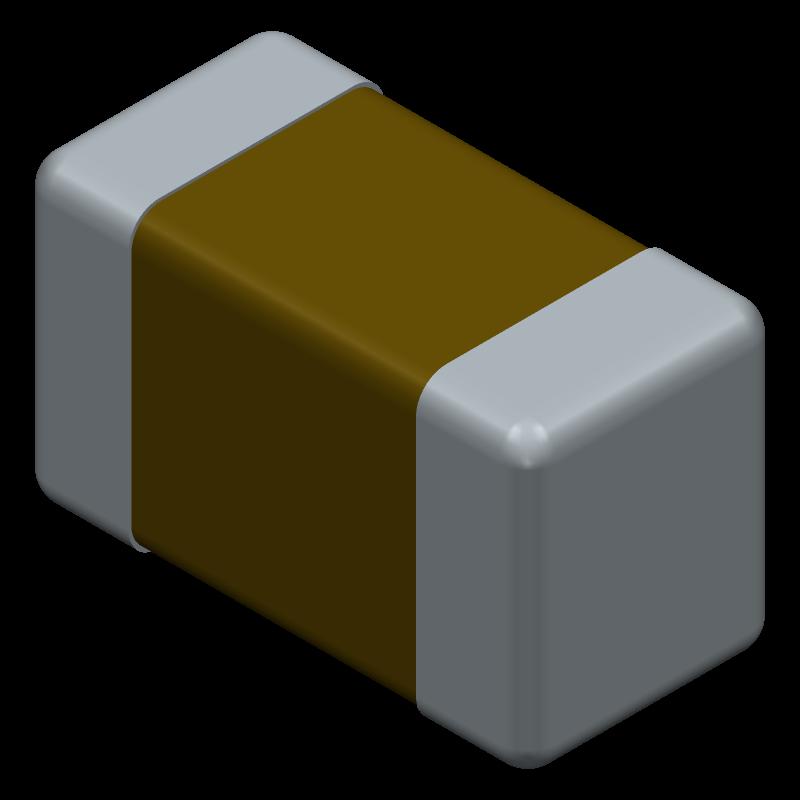 C0603C104K5RAC3121 - Kemet - 3D model - Capacitor Chip Non-polarised - 0603-12